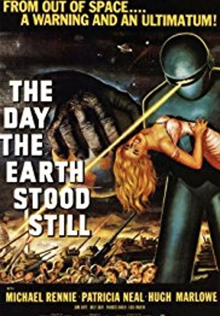 "Filmplakat ""The day the earth stood still"""