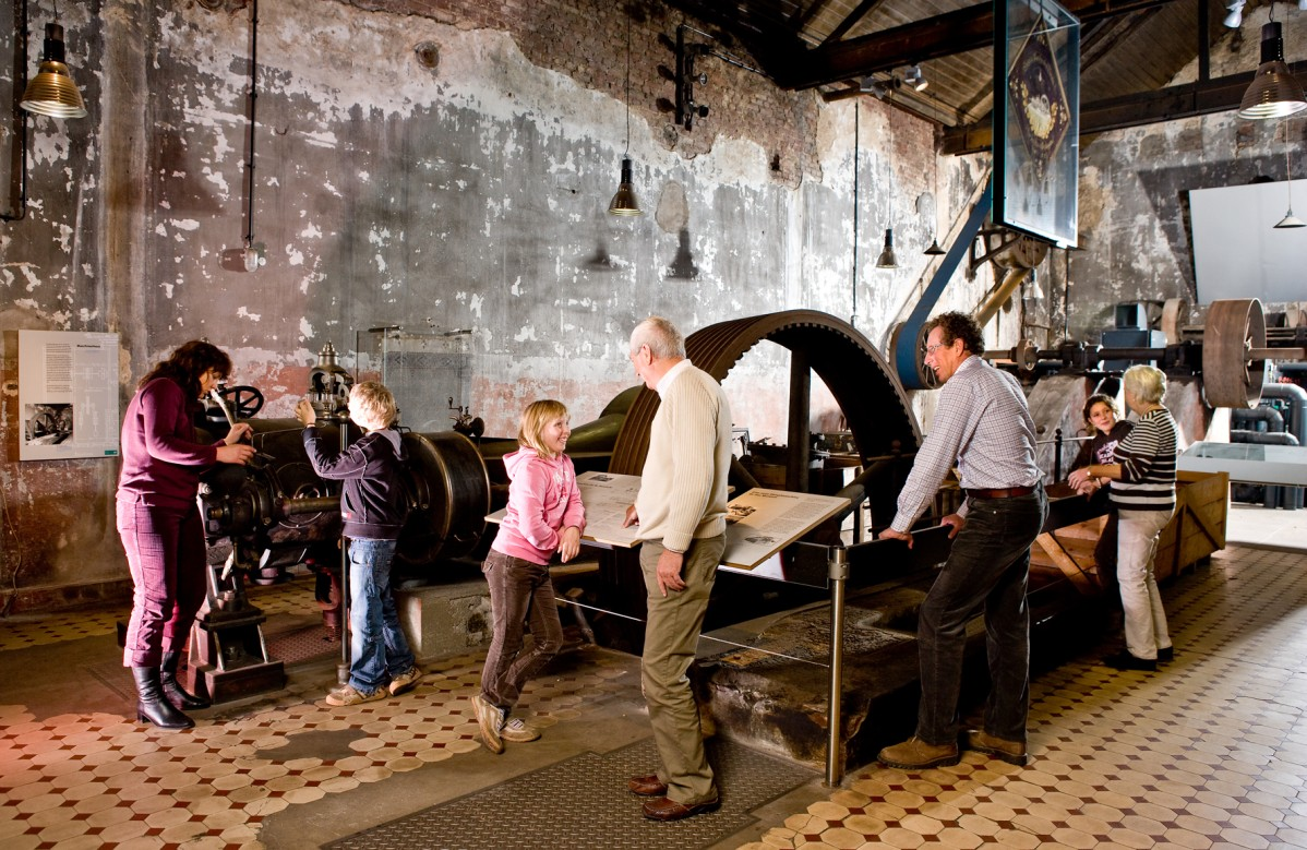 View of the former machine house, where children and adults can visit the exhibits.